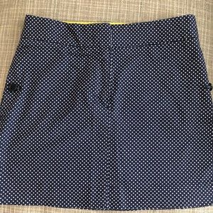 J.Crew Kids Navy Polka Dot Skirt